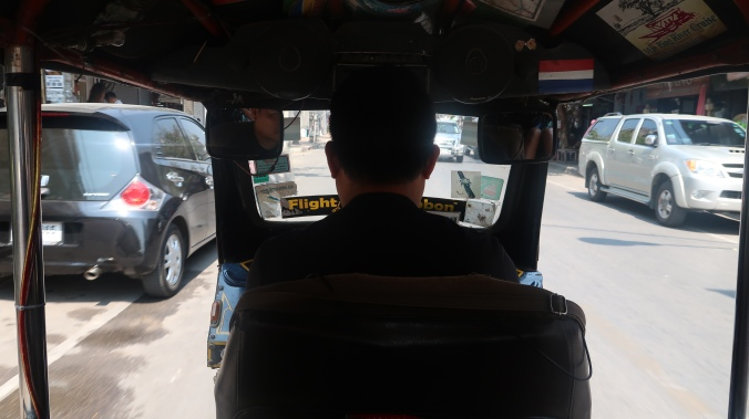 The view from inside a tuk tuk